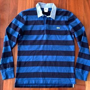 Lacoste Mens Long Sleeve Stripe Rugby Shirt